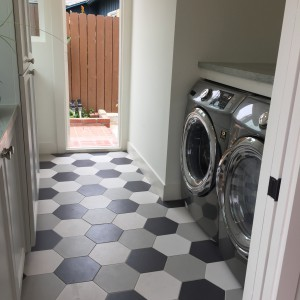 really fun floor in the laundry room!