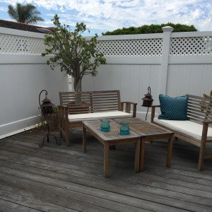 spacious outdoor deck