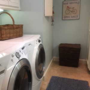 centrally located laundry room with storage! ahhhh!