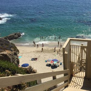 private staircase to Table Rock Beach
