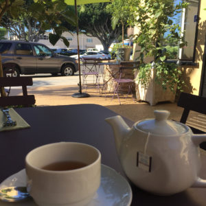 tea in the courtyard of sweet lady jane.