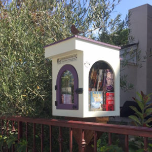 take a book, leave a book. positioned strategically around town.